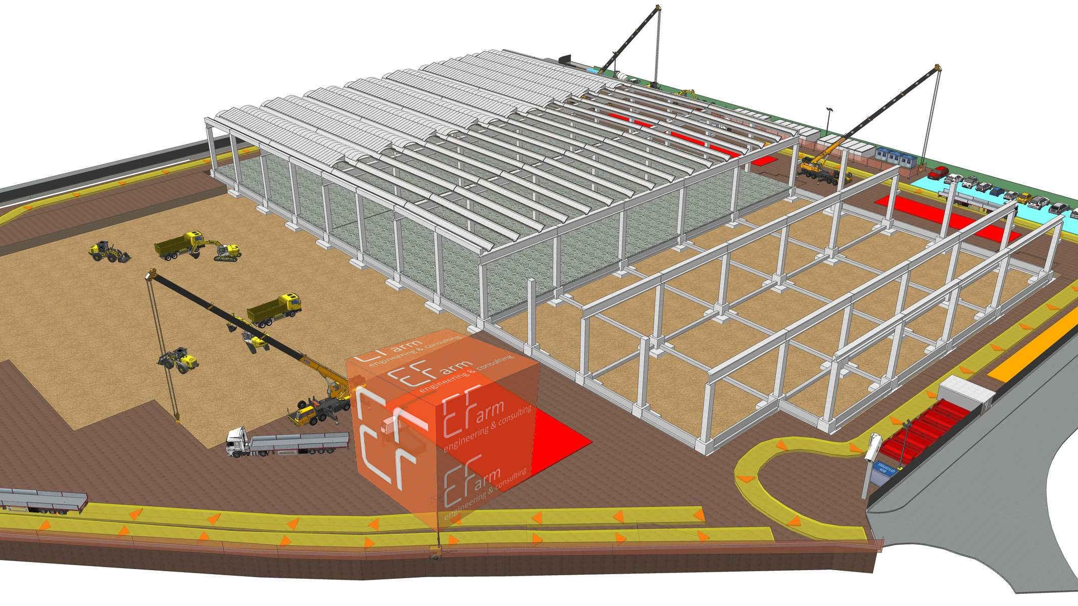 BIM Centro Logistico E-Farm engineering & consulting