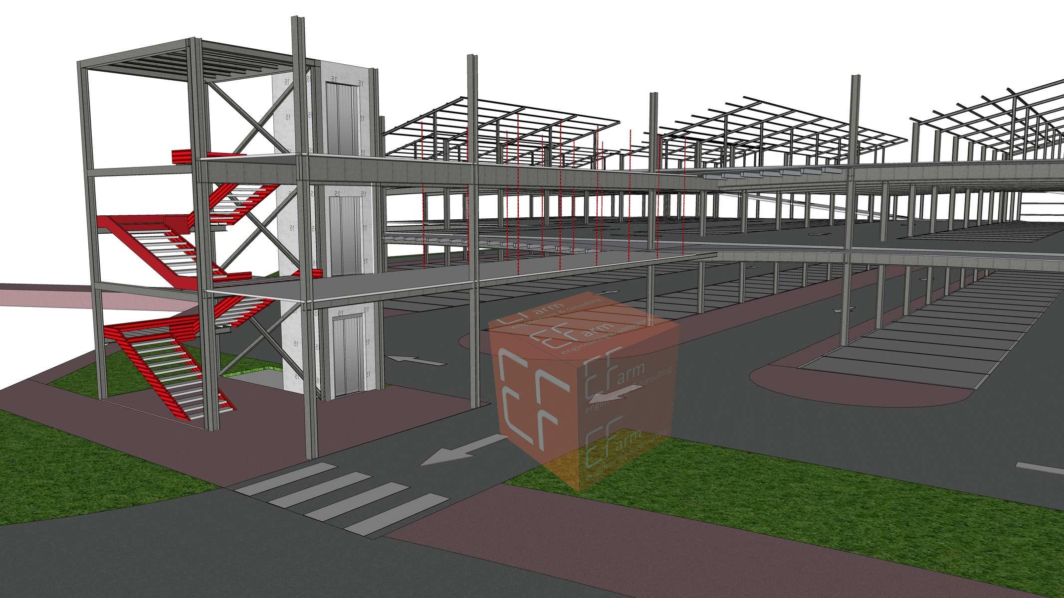 BIM Parcheggio Vigonza E-Farm engineering & consulting